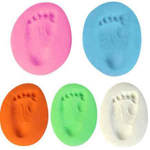 1pc Baby Hand Print Footprint Imprint Kit Casting Baby Air Drying Soft Clay Parent-child Hand Ink Pad Fingerprint Memory Funny - Center Of Treasures