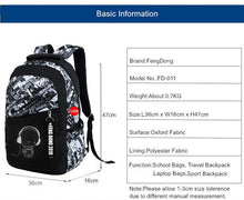 Boys School Bags Waterproof Large Backpack For Teenagers Bagpack High School Backpack For Boy Student Chest Bag Set - Center Of Treasures