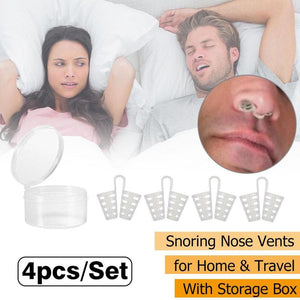 Snoring Anti Snore Nasal Clip 4pcs /Set  Dilators Breathe-Easy Stop Cones Congestion Aid Sleep Relieve Snore Device Health Care - Center Of Treasures