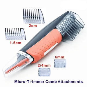Switchblade Hair Trimmer Eyebrow Ear Nose Clipper Shaver Electric Face Care With Led Light Micro Precision - Center Of Treasures