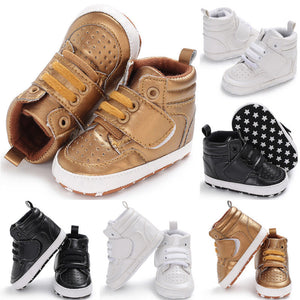 Newborn Baby Boys Girls Shoes Boots High-Tops Fashion Pu Soft Sole Crib Infant Kids Toddler Warm Boots Anti-slip Sneaker 0-18M - Center Of Treasures