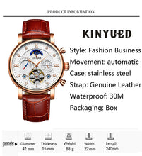 Moon Phase king Leather Diamond Display Automatic Mechanical Watch Men's Watches Top Brand Luxury - Center Of Treasures