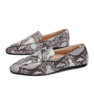 Women Canvas Ballet Flat Shoes Mule Slides Summer Flat-Bottomed Casual Leopard Single Shoes Office Ladies Point Toe Loafers #40 - Center Of Treasures