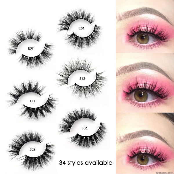 Mink Lashes 3D Mink Eyelashes 100% Cruelty free Lashes Handmade Reusable Natural Eyelashes Popular False Lashes Makeup - Center Of Treasures