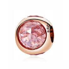 Authentic Original 925 Sterling Silver Charm Bead Pendant Spacer Clip Charms Rose Gold Fit Bracelets Women DIY Jewelry - Center Of Treasures