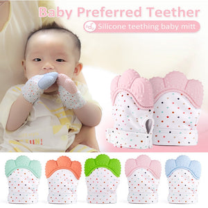 Baby Teething Gloves Nursing Pacifier Silicone Molar Mitten Infant Chain Nipples Anti-bite Hand Holder Stop Sucking Thumb Toy - Center Of Treasures