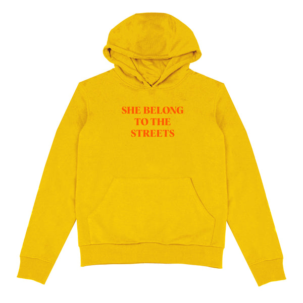 SHE BELONG TO THE STREETS HOODIE (MUSTARD)