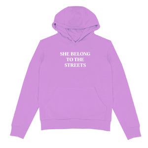SHE BELONG TO THE STREETS HOODIE (Lavender)