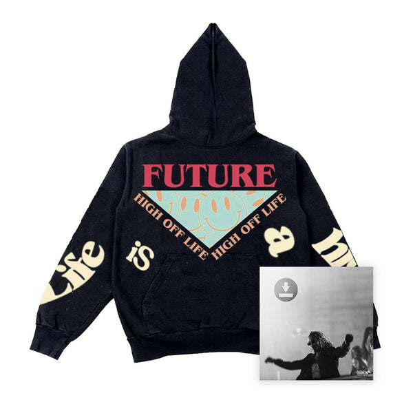 Smile! High Off Life Hoodie + Digital Album