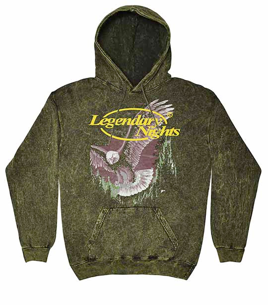 Legendary Nights Eagle Washed Green Hoodie