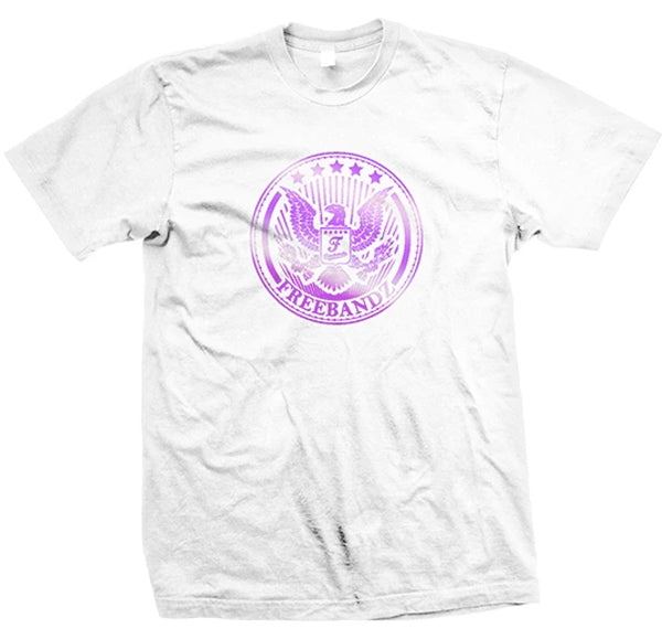 Freebandz Emblem Tee – White/Purple