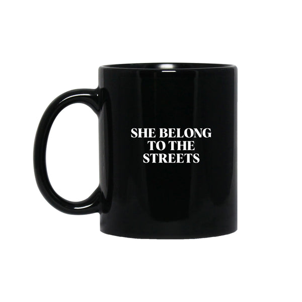 She Belong Mug- Black