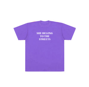 SHE BELONG TEE (PURPLE)