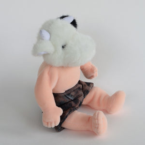 Minator or Apis doll, altered stuffed toy soft sculpture