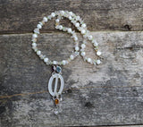 Freshwater Pearl and Antique buckle necklace, The Fae Buckle
