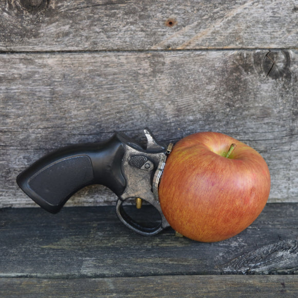 Red apple gun, funny prop weapon