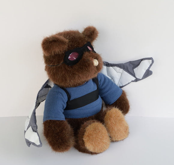 Falcon bear, Sam Wilson fanart stuffed toy