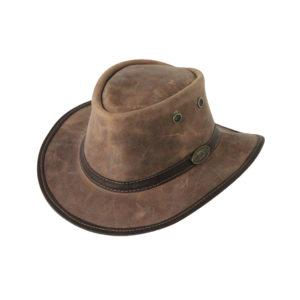 Rogue Outdoor Huntsman in Full Grain Cabretta Leather Medium Brim with Eyelets Hat