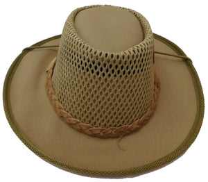 Rogue Outdoor Airhead Waxed Canvas with Medium Brim, Mesh Top and Chin Strap Hat