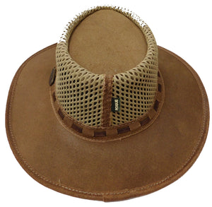 Wide Leather Brim with Mesh Body Hat - The Rogue Breezy