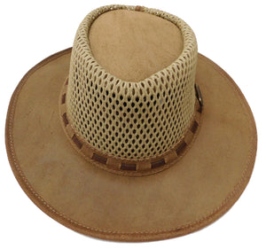 Rogue Outdoor Breezy Waxed Suede with Broad Brim and Canvas Mesh Top