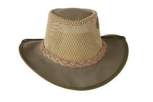 Wide Canvas Brim with Mesh Body Hat - The Rogue Airhead