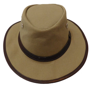 Rogue Outdoor Vintage 1930 African Traveler  Waxed Cotton Canvas with Medium Brim and Eyelets Hat