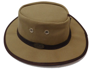 Medium Brim Lightweight Waxed Canvas Hat - The Rogue 1930's Traveler