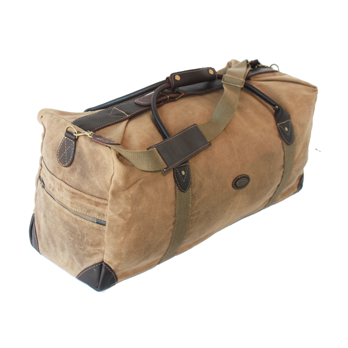 Tin Cloth Weekender in Sand