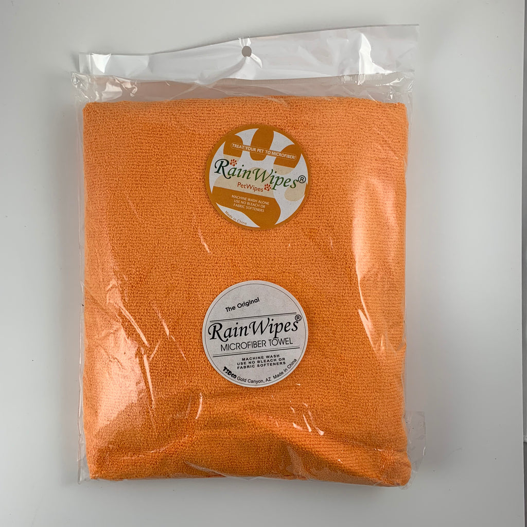 10614 RainWipes PetWipes 36'' x 24'' Orange (Microfiber) Individual