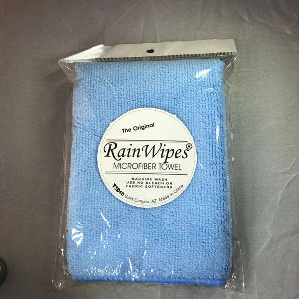 10400 RainWipes Microfiber Towel 16'' x 12'' Blue Individual