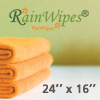 10610 RainWipes PetWipes 24'' x 16'' Orange (Microfiber) Individual