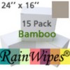 "10494 RainWipes Bamboo 24"" x 16"" Tan (15 Pack) Individual"