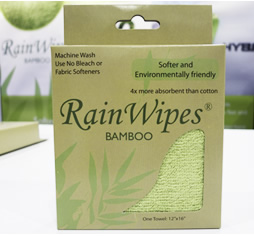 20480 RainWipes Bamboo 16'' x 12'' Green (75/Case)