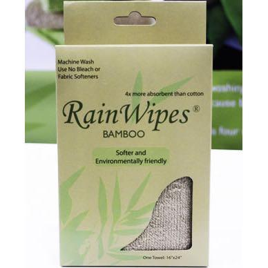 10480 RainWipes Bamboo 16'' x 12'' Green Individual