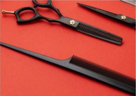 Barber Scissors set with sissors, combs and more
