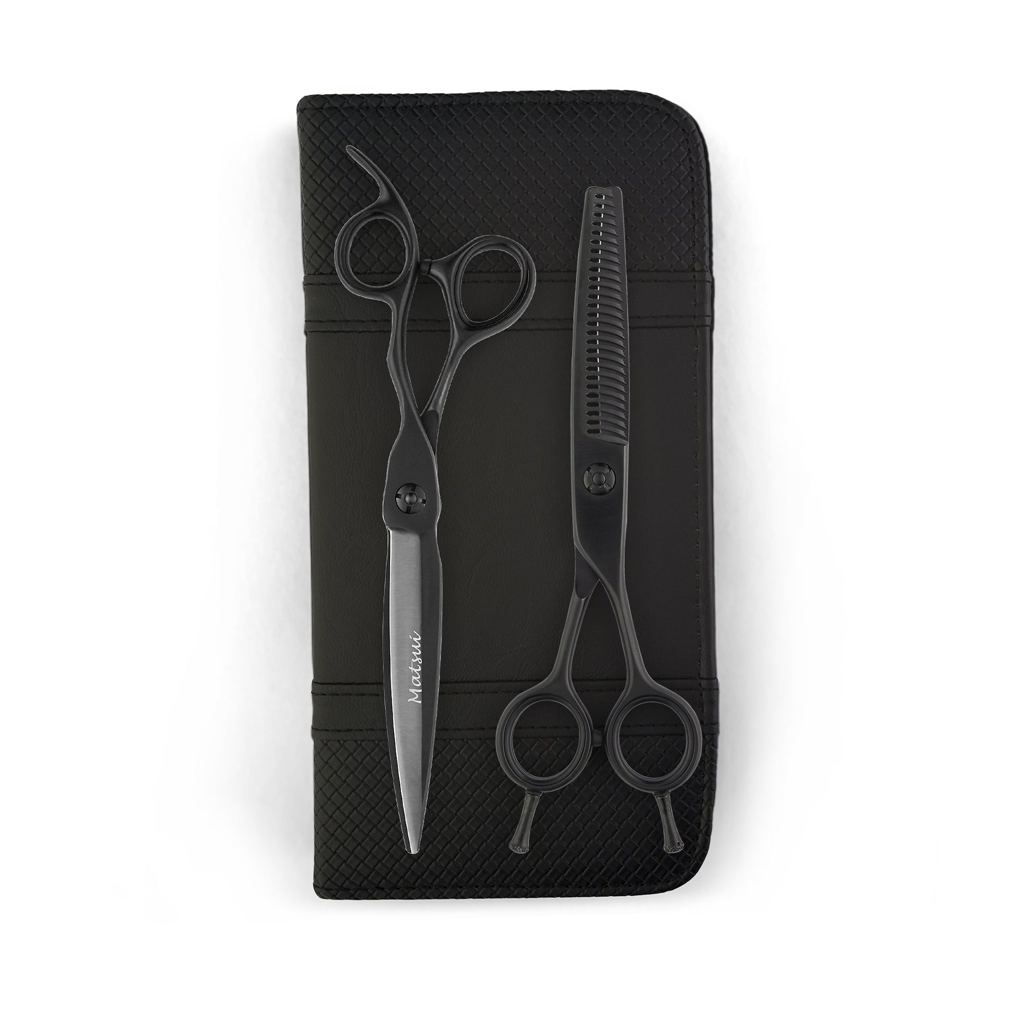 Matsui VG10 Sword Shear Thinner Combo - Matte Black - Scissor Tech USA