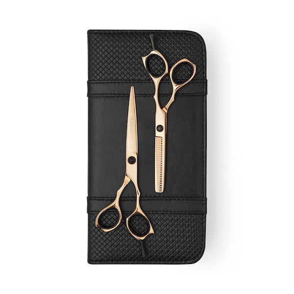 Matsui Precision Rose Gold Shear & Thinner Combo - Scissor Tech USA (1639227326530)