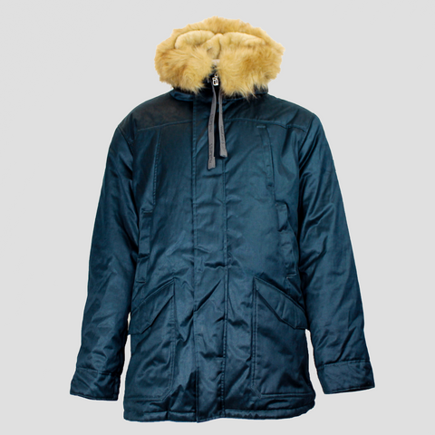 Hoodlamb Nordic Parka Vegan Hemp Winter Coat in Blue