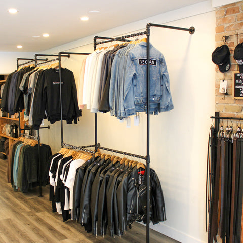 Vegan leather jackets and denim jackets at Imperative