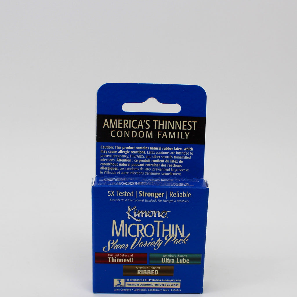 MicroThin Sheer Variety Condoms 3s