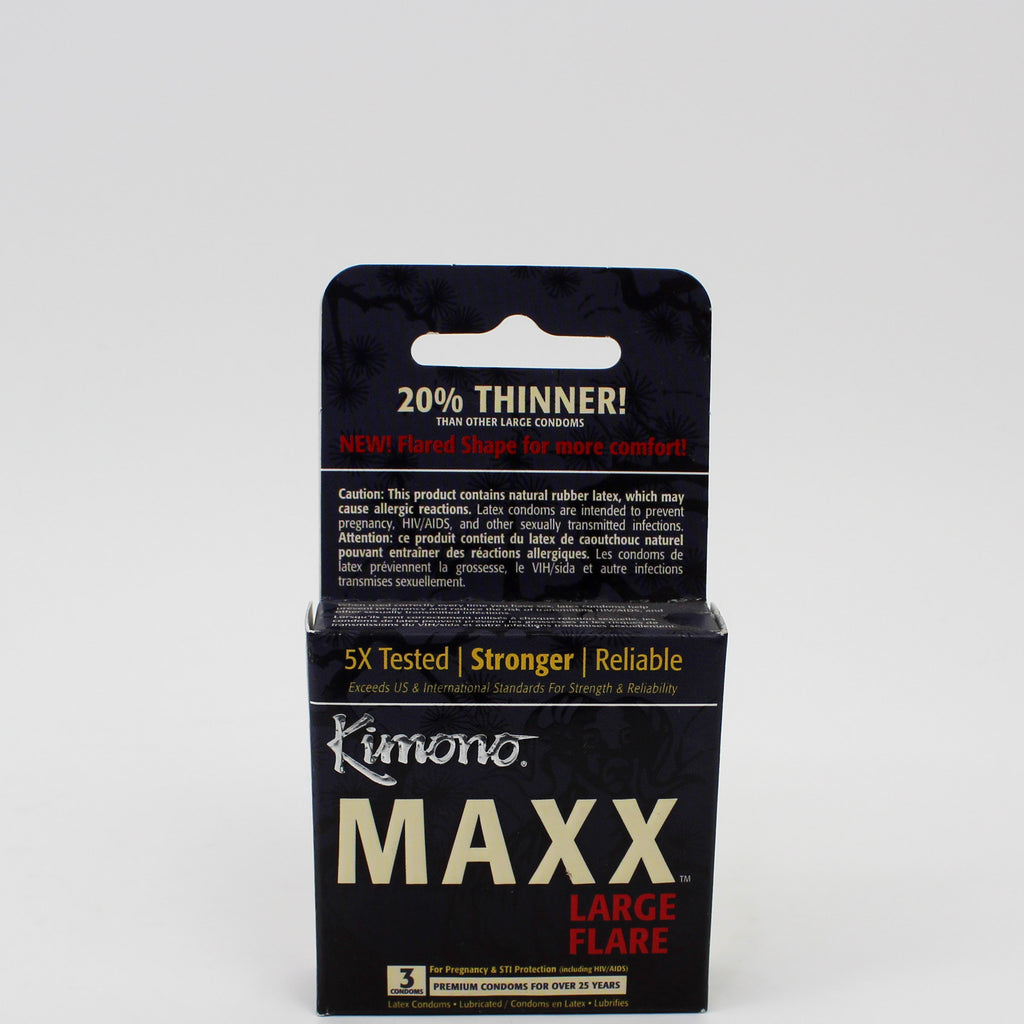 MicroThin Maxx Large Flare Condoms 3s