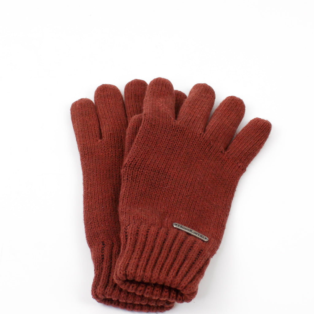 Knit Gloves Sepia