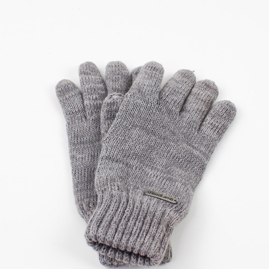 Knit Gloves Grey
