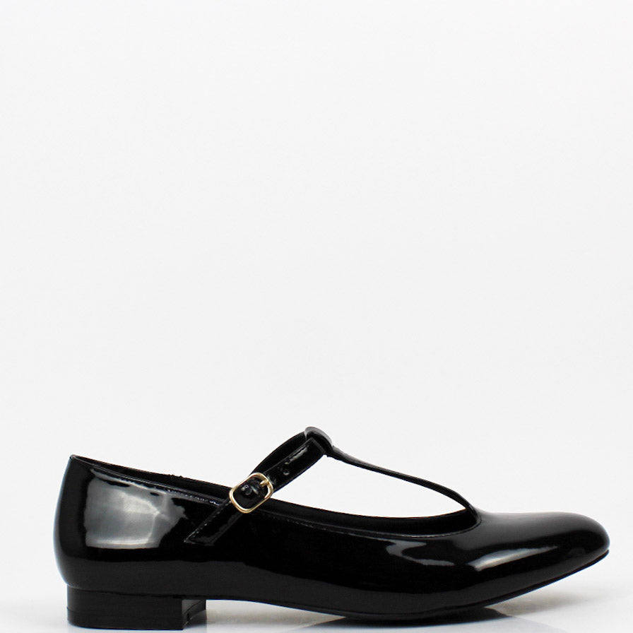 Matilda T-Bar Mary Jane Flats Black