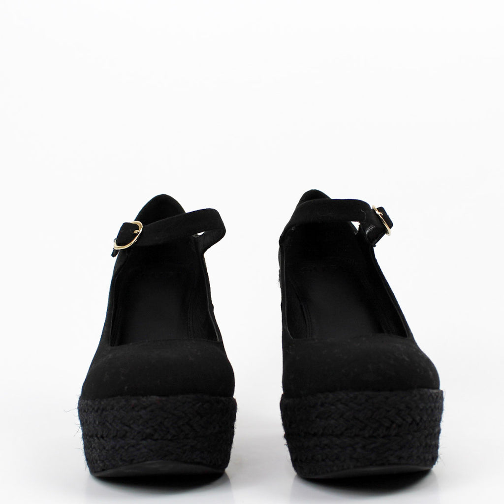 Dolores Mary Jane Wedges Black
