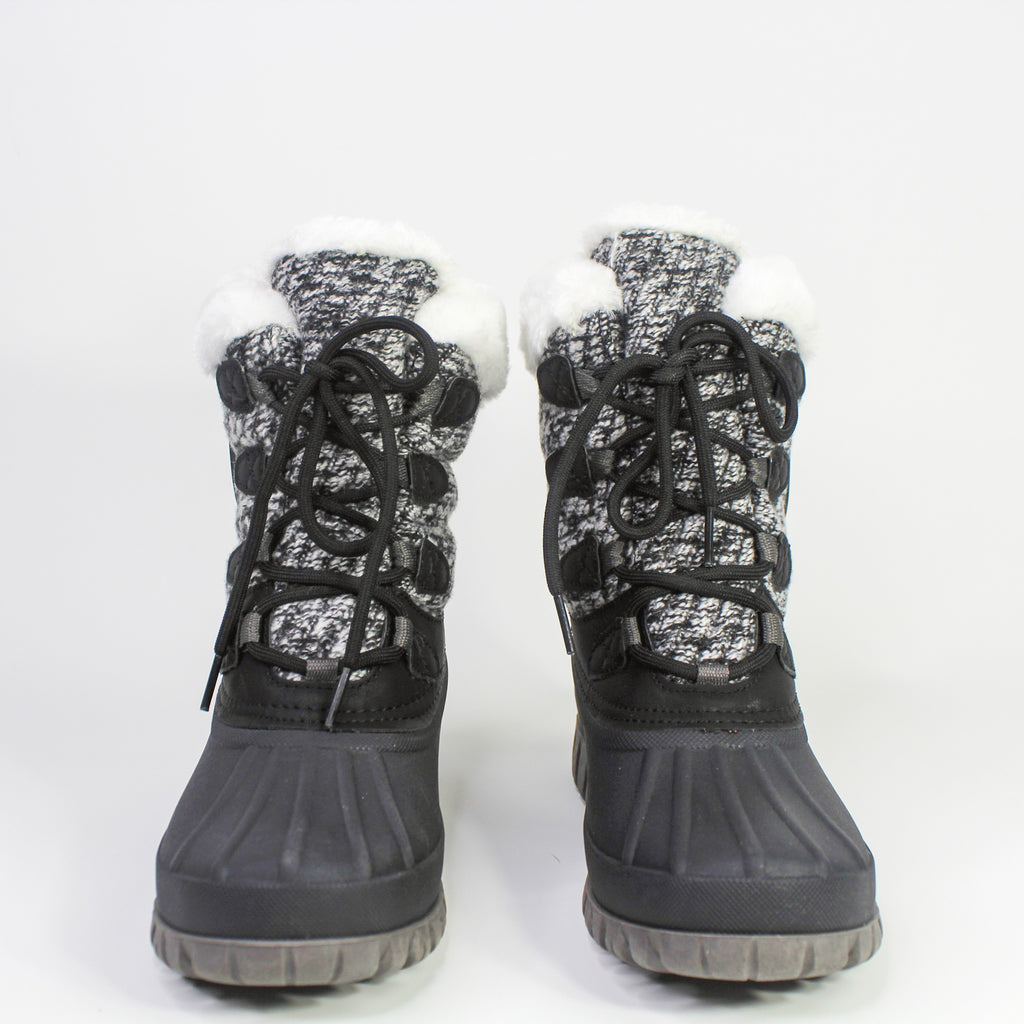 Camp Winter Boots Black & White