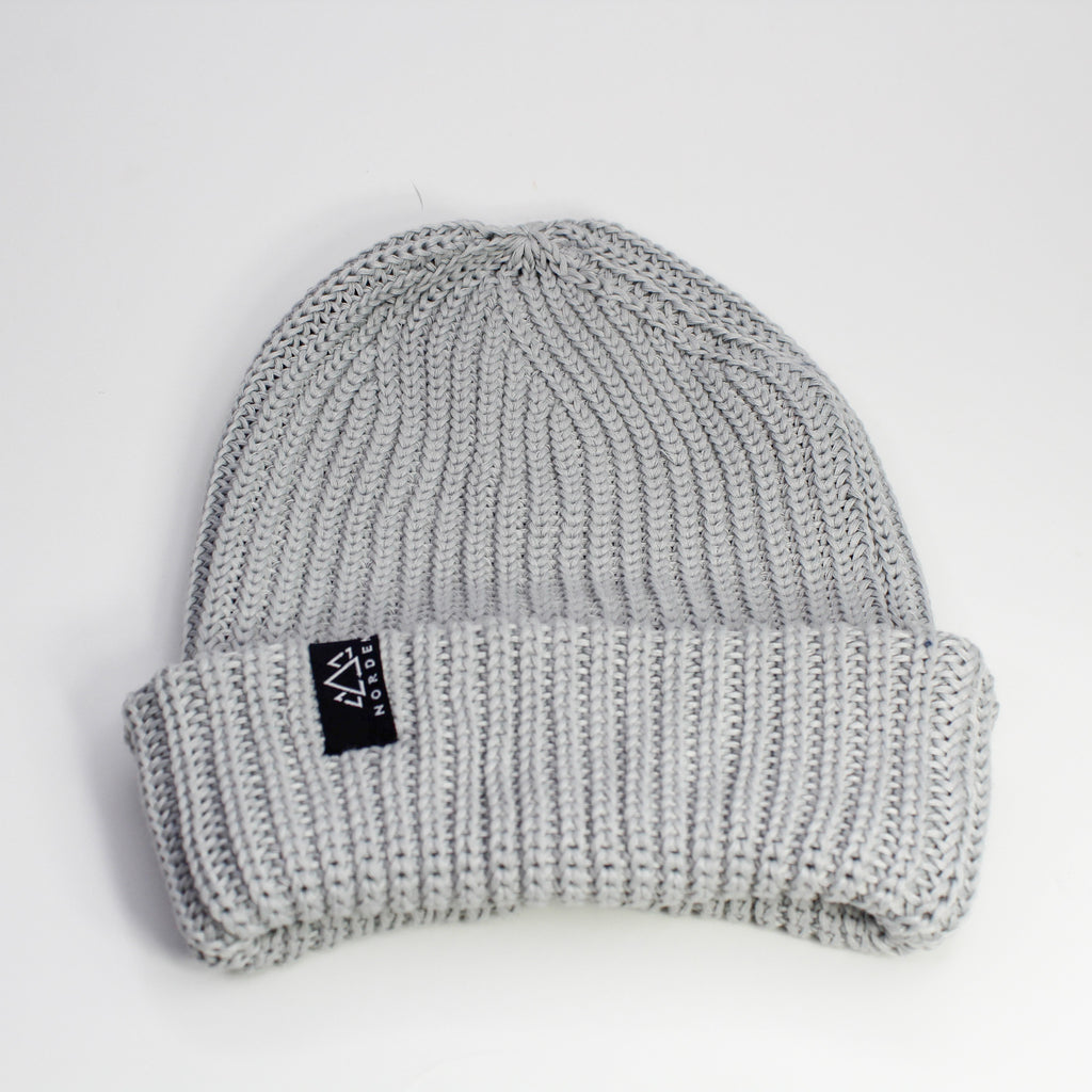 Nisse Rib Knit Recycled Beanie Cloud