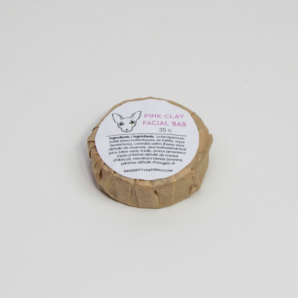 Pink Clay Facial Bar 35g