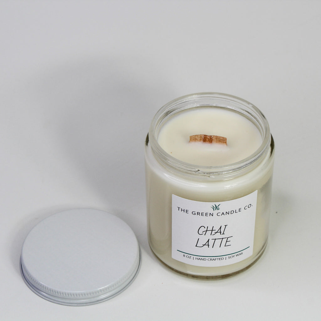 Chai Latte Handmade Soy Candle 8 oz